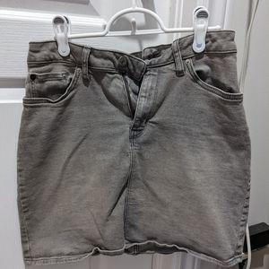 Calvin Klein Grey Jean Skirt